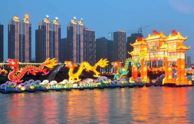 2012吉林松花江河灯文化节-1