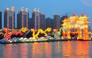 2012吉林松花江河灯文化节