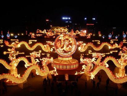 2012西安城墙灯会